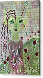 Acrylic Print featuring the painting Daphne by Julie Engelhardt