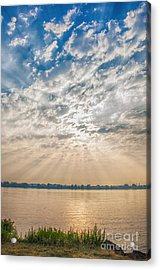 Acrylic Print featuring the mixed media Dappled Dawn by Terry Rowe