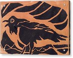 Darcy's Crow  Acrylic Print by Erika Chamberlin