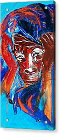 Darfur - She Cries Acrylic Print by Valerie Wolf