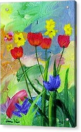 Acrylic Print featuring the painting Daria's Flowers by Jamie Frier