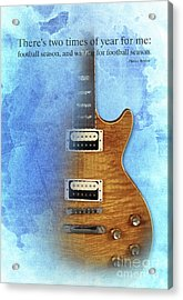 Darius Rucker Inspirational Quote, Electric Guitar Poster For Music Lovers And Musicians Acrylic Print by Pablo Franchi