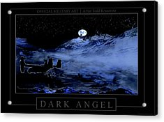 Dark Angel Acrylic Print by Todd Krasovetz