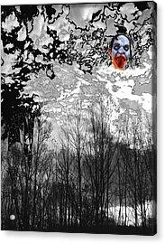 Dark Black Acrylic Print by Lee M Plate
