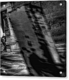Dark Blondie #woman #walk #street Acrylic Print