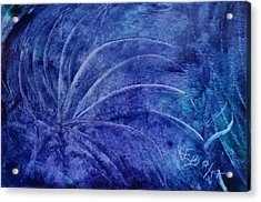 Dark Blue Abstract Acrylic Print