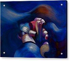 Dark Blue Acrylic Print by Fanny Diaz