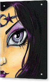 Dark Celestial Goddess Acrylic Print by Elaina  Wagner
