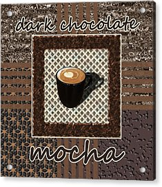 Dark Chocolate Mocha - Coffee Art Acrylic Print by Anastasiya Malakhova