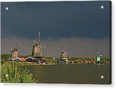 Dark Clouds Above Zaanse Schans Acrylic Print