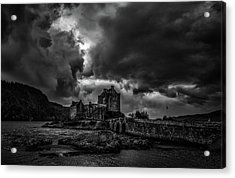 Acrylic Print featuring the photograph Dark Clouds Bw #h2 by Leif Sohlman