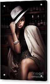 Dark Fashion Acrylic Print