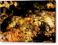 Dark Ferris Wheel Acrylic Print