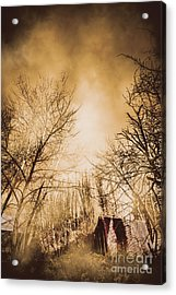 Dark Forest Hut Acrylic Print by Jorgo Photography - Wall Art Gallery