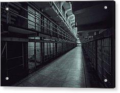 Dark Halls Of Alcatraz Acrylic Print by Mike Burgquist