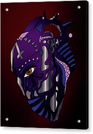 Dark Heart Acrylic Print by Kenal Louis