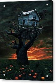 Dark Night Acrylic Print by Mihaela Pater