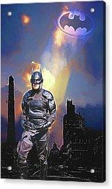 Dark Night Of Gothamville Acrylic Print