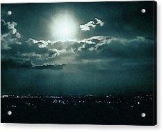 Dark Night Acrylic Print by Paul Cristian Panaete