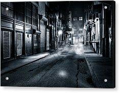 Dark Nyc Acrylic Print by Mihai Andritoiu