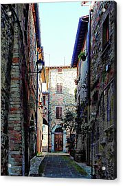Dark Passageway In Panicale Acrylic Print by Dorothy Berry-Lound