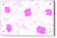 'dark Pink And White Flower Abstract' Acrylic Print