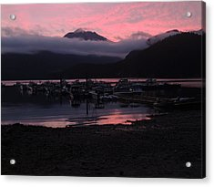 Dark Pink Sunset Acrylic Print