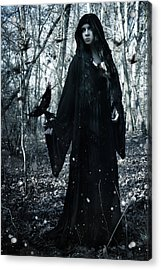 Dark Priestess Acrylic Print by Cambion Art