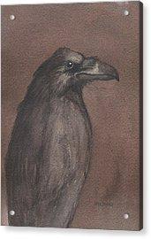 Dark Raven Acrylic Print