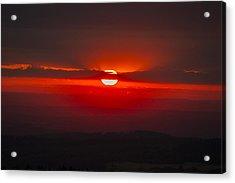 Dark Red Sun In Vogelsberg Acrylic Print