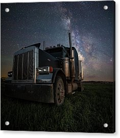 Acrylic Print featuring the photograph Dark Rig by Aaron J Groen