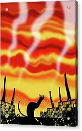Dark Satanic Mills  Acrylic Print by Andrew Hitchen