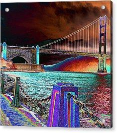 Dark Sky At The Golden Gate Acrylic Print