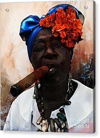Dark Smoke  Acrylic Print by Gull G