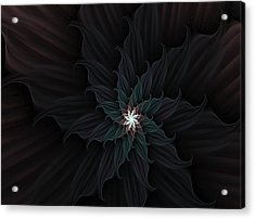Dark Star Flower Acrylic Print
