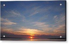 Acrylic Print featuring the photograph Dark Sunrise by  Newwwman