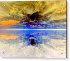Dark Sunset Acrylic Print by James Granberry