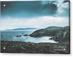 Dark Tense And Dramatic Sea Cliffs Acrylic Print