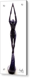 Dark Violet Matter Back View Acrylic Print by Adam Long