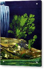 Acrylic Print featuring the painting Dark Waters by Patricia Griffin Brett