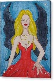 Dark Wings II Acrylic Print by Lindie Racz