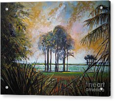 Darkest Before The Dawn Acrylic Print by Michele Hollister - for Nancy Asbell
