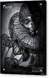 Darkness Clown Acrylic Print
