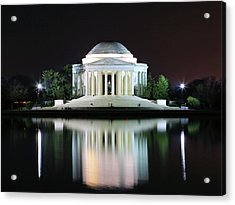 Darkness Over The Jefferson Memorial Acrylic Print