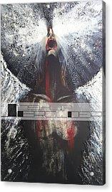 Darkness Rain Acrylic Print by Joshua Browder