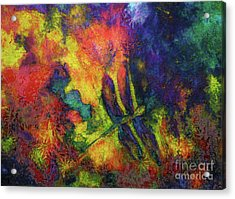 Darling Darker Dragonfly Acrylic Print by Claire Bull