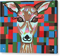 Acrylic Print featuring the painting Darling Deer by Kathleen Sartoris