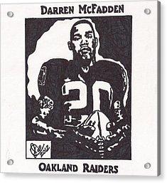 Darren Mcfadden 2 Acrylic Print by Jeremiah Colley