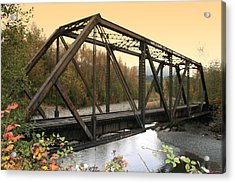 Darrington Bridge Br-6002 Acrylic Print by Mary Gaines