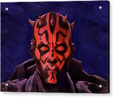 Darth Maul Dark Lord Of The Sith Acrylic Print
